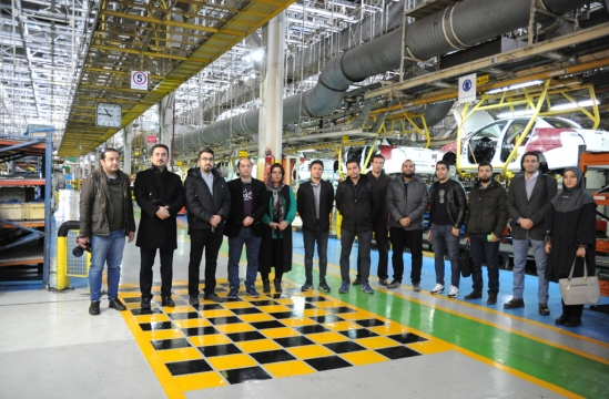 Video game creators visiting Iran Khodro factory