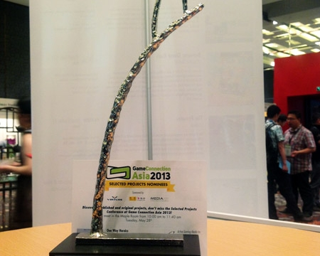 2013 Asia Game Connection award for Newfolder team of  iran game development institute